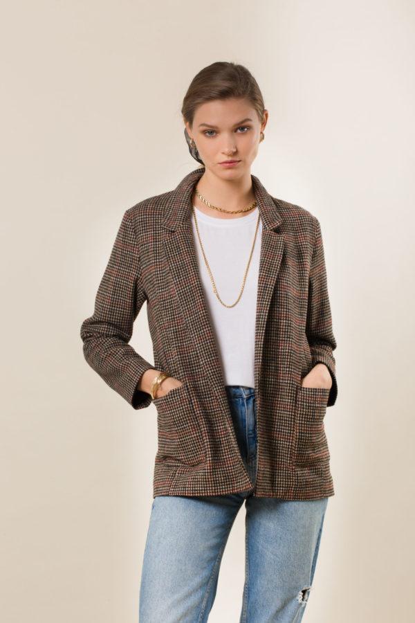 Anthia Plaid Jacket