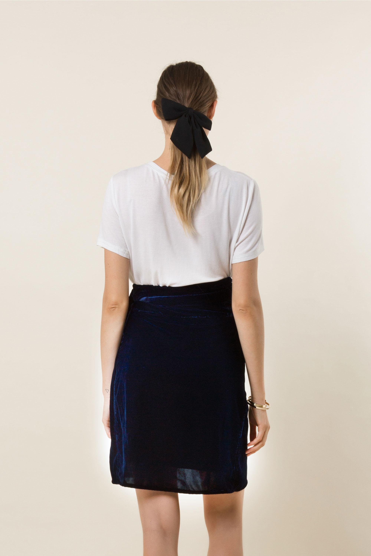 Kat Velvet Wrap Skirt