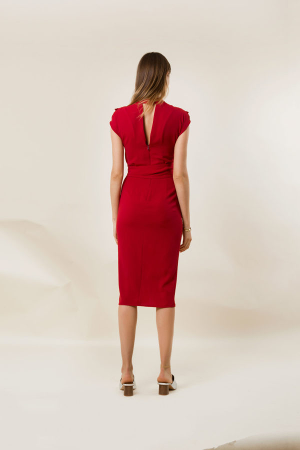 Lea Red Midi Dress