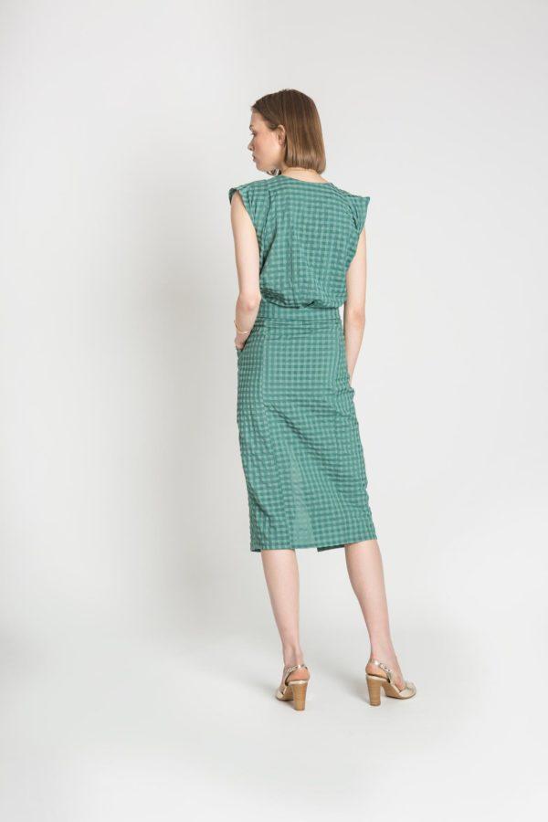 Laila midi belted dress