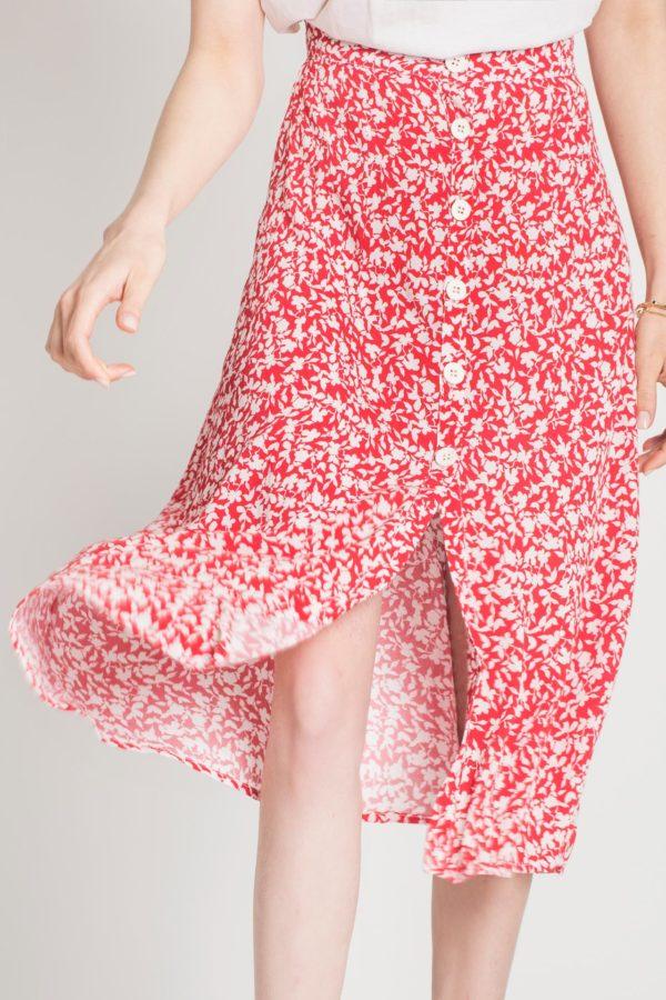 Clio Button Skirt