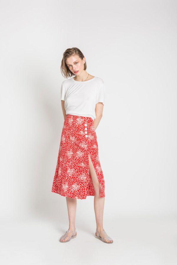 Esta Button Skirt