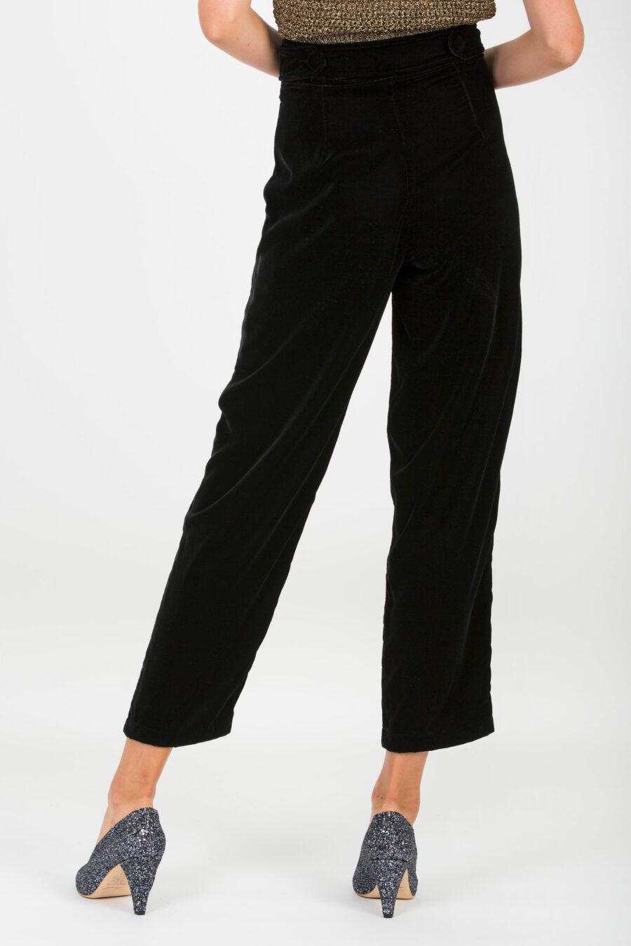 Lupita Black Velvet Pants